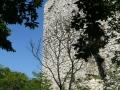 A torony sarok része az udvar felől
