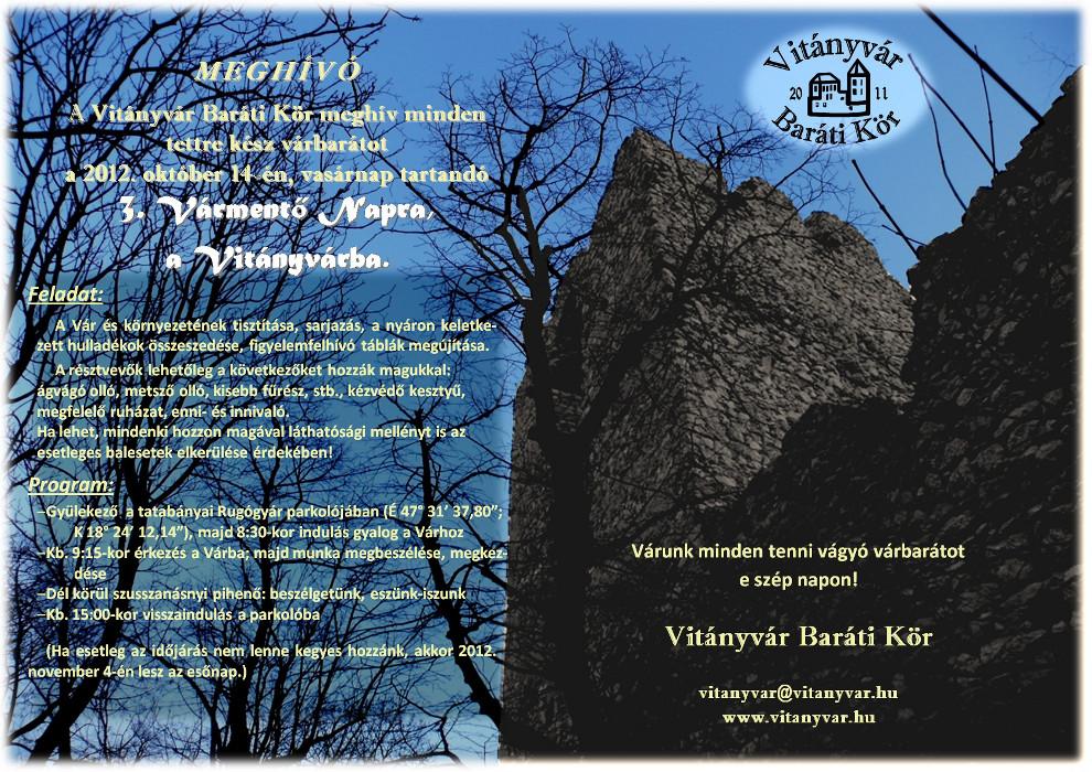 III. Vitányvár nap - Meghívó