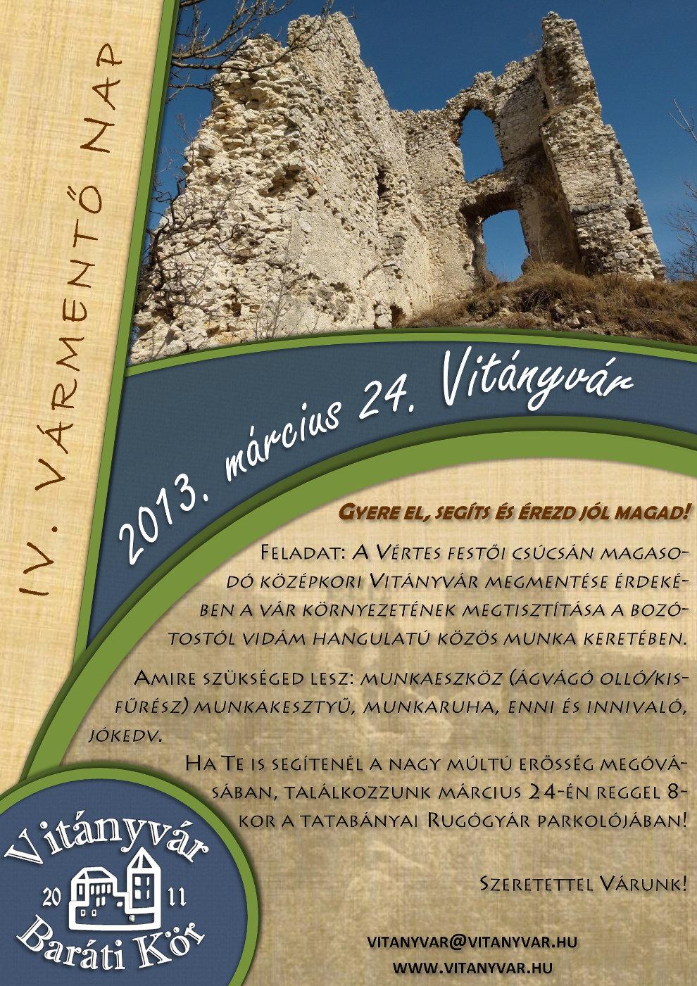 IV. Vitányvár nap - Meghívó