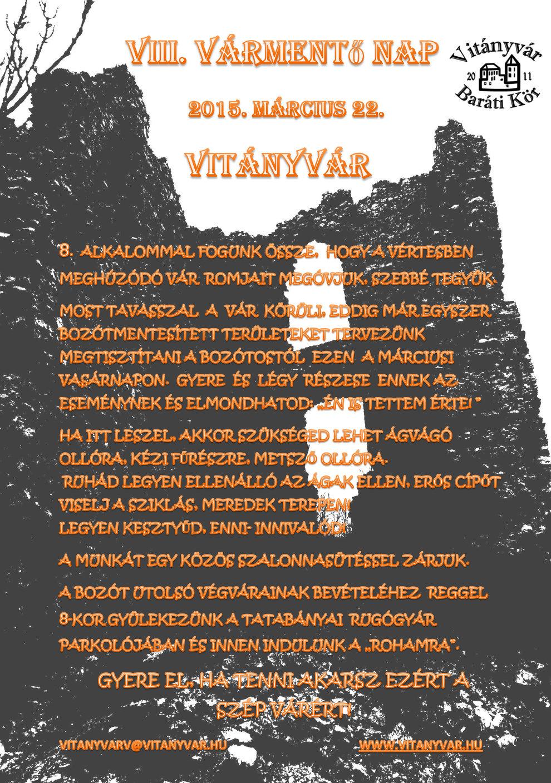 VIII.-Vitányvár-nap-Meghívó